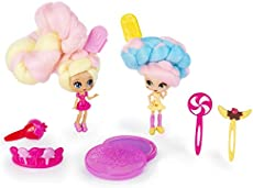 """Candylocks, BFF 2-Pack, 3\\"""" Kerry Berry and Beau Nana, Scented Collectible Dolls with Accessories"""