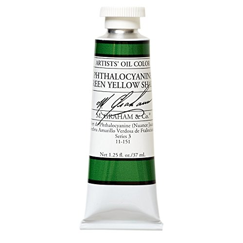M. Graham & Co. Oil Paint, Phthalocyanine Green Yellow Shade