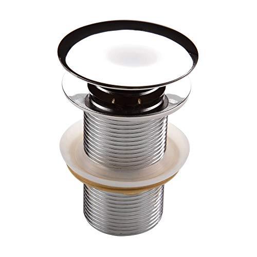 Hoogwaardige universele afvoergarnituur chroom rond messing met pop-up ventiel zonder overloop voor wastafel/wastafel 1 1/4