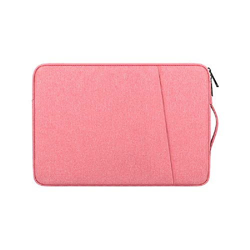 Laptop Sleeve for 13 -13.3 Inch MacBook Air and MacBook Pro, Compatible with 13' Notebook Tablet iPad Tab, Waterproof Shock Resistant Computer Bag Case with Handle and Accessory Pocket, Pink