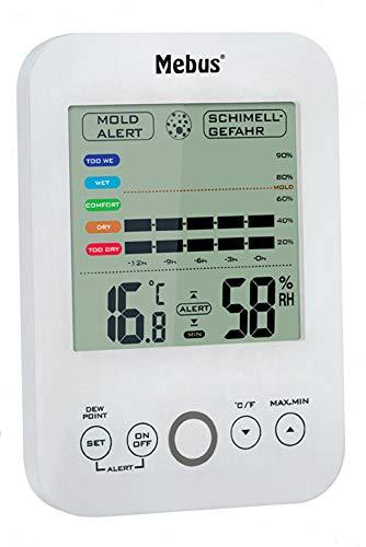 Mebus Thermo- Hygrometer, digital mit Schimmelalarm