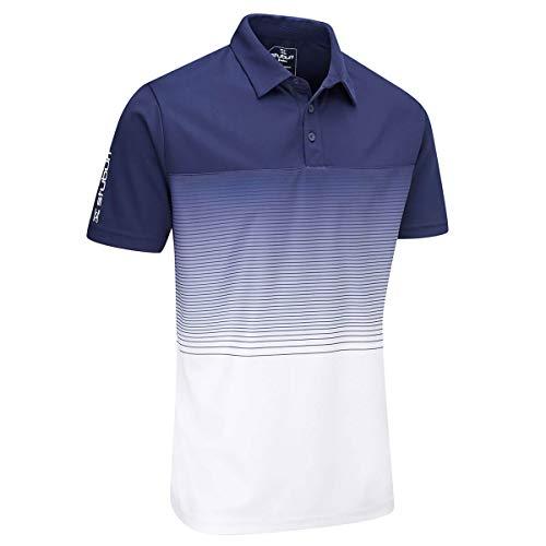 Stuburt SBTS1085, Sbts1085-Polo da Golf da Uomo Evolve Dalton, Midnight, XXL