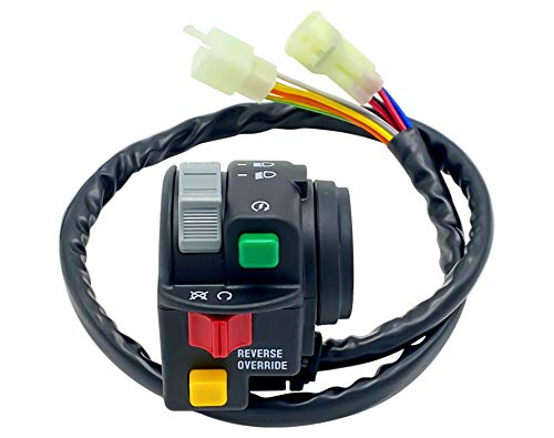 M MATI Left Handlebar Control Start Stop Headlight Switch 0509-014 for Arctic Cat ATV 400 500 Automatic 400 TRV 450 500 550 650 700 1000 Thunder Cat 2008-2010