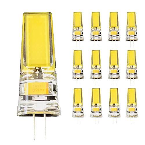 G4 LED Lampe 5W Warmes weißes Licht 3000K COB, 12V AC/DC, 360° Abstrahlwinkel, Nicht Dimmbar,G4 LED Silicagel Birne,G4 Kronleuchterbirne,12er Pack