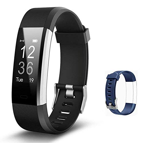Lintelek Fitness Tracker - Activity Tracker with Heart Rate Monitor, Smart Fitness Watch with Sleep Monitor, Step Counter, Calorie Counter, Pedometer Watch for Women Men and Gift