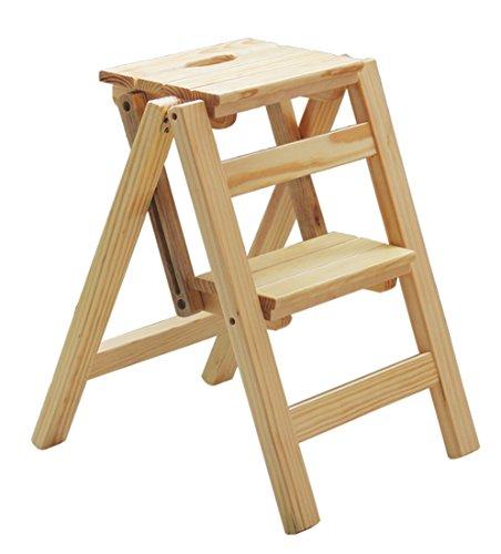 BLWX - Échelle de ménage en bois massif - Échelle multifonctionnelle pliante, porte-échelle d'escalade en bois pour intérieur, hauteur 66 cm Échelle (Couleur : B, taille : 66m)