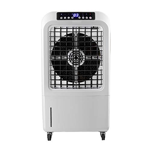 Industrie-Luftbefeuchter Tragbarer Verdunstungskühler Gebläse und Sprüher Sumpfkühler, 30 l Wassertank mit großem Fassungsvermögen Die Nebelmenge beträgt 6 kg/h