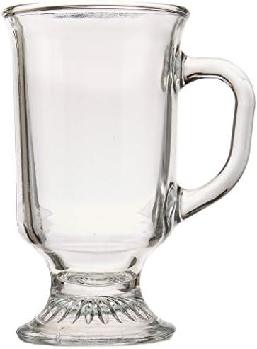 Anchor Hocking 16-oz Café Glass Coffee Mugs, Clear, Set of 6