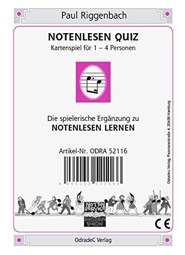 Notenlesen Quiz. Kartenspiel für 1-4...