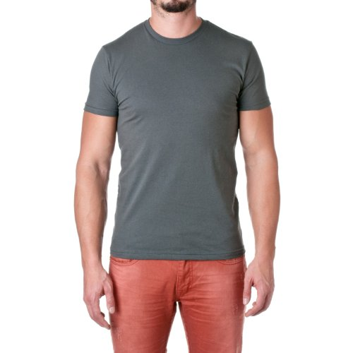 Next Level Mens Premium Fitted Short-Sleeve Crew T-Shirt - Large - Heavy Metal