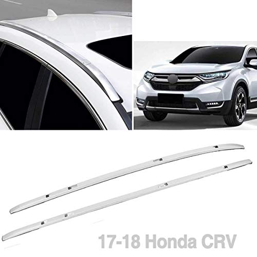 2pcs Mount onto The Rooftop Black Aluminum Roof Rack Top Side Rails Carries Luggage Carrier Replacement for 2017-2019 Honda CRV