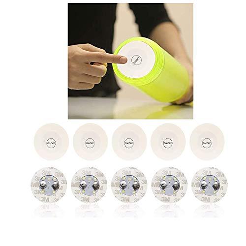 Vanorell 5 x Flaschenbeleuchtung Flaschenunterbeleuchtung Shisha Beleuchtung Untersetzer LED Flaschenlicht Leuchtmittel für Flaschen Partydeko …