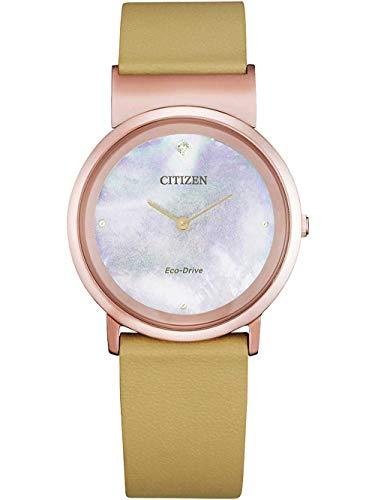 Citizen EG7073-16Y Relojes de cuarzo Relojes de titanio Relojes solares
