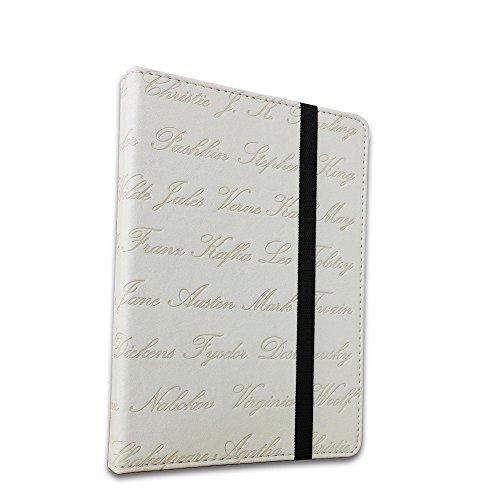 EnjoyUnique Funda universal para lector de libros electrónicos de 6' para Kobo Kindle Sony Pocketook Tolino Ereader grabado con nombre del autor