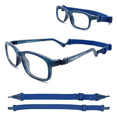 Tempo Ultra: 3004110 Unbreakable Kids Glasses with Headstrap Age 7-11Yr | Navy Blue