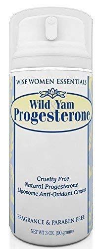 Bio identical Wild Yam & Progesterone Cream Paraben Free - Fragrance Free - Non GMO, Non Toxic - Wise Essentials