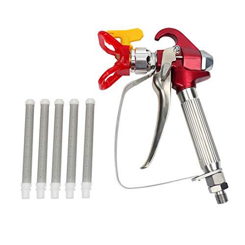 Airless pistola pintura alta presión xs-818+ boquilla asiento para Titan/Wagner/Graco + 5x Airless pintura pistola Filtro