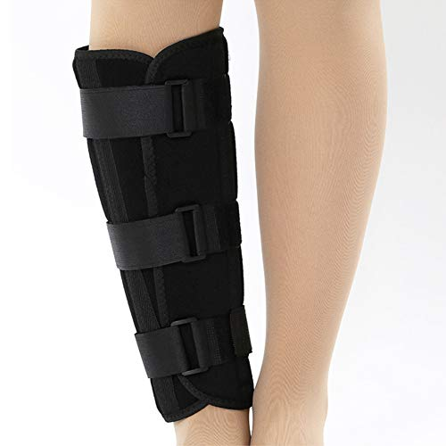 Shank Calf Support Night Splint Support Joint Brace, Tibia and Fibula Fracture Orthosis External Adjustable Fixation Strap Wrap Sleeve Belt Protector