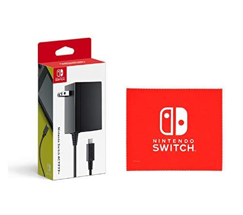 【任天堂純正品】Nintendo Switch ACアダプター (【Amazon.co.jp限定】Nintendo Switch ロゴデザイン マイクロファイバークロス 同梱)
