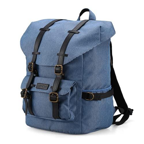 Lshbwsoif Mochila de camping casual para ordenador portátil, para correr, ciclismo, senderismo, escalada (tamaño libre; color: azul)