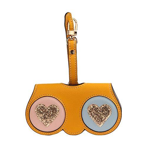 Glazen tas, mode mini bril tas gepersonaliseerde zonnebril doos zachte tas zonnebril doos beschermende bril clip tas hangende bril tas, geschikt voor dating partijen om te werken aan zakenreizen