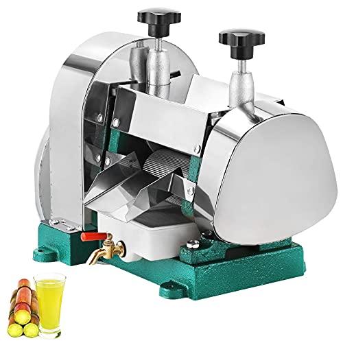 Exprimidor manual de caña de azúcar, exprimidor de caña de azúcar de acero inoxidable, salida de 50 kg por hora, adecuado para uso comercial y doméstico