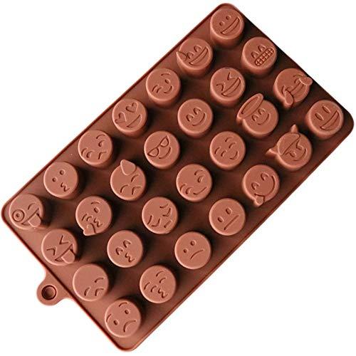 DGHB Moule À Fondant Emoji Chocolat Moule en Silicone pour Le Biscuit De Gâteau Moule Accessoires De Cuisson Fondant Bonbons Silicone DIY Moules (2Pcs)