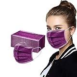 OVERMALL 50/100 Stück Mund und Nasenschutz einweg mit Motiv Bedruckte Bandana Multifunktionstuch Halstuch für Damen und Herren