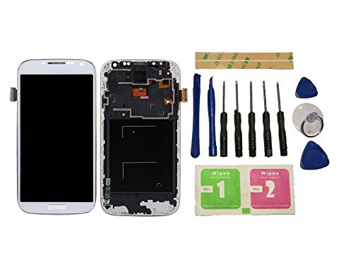 Flügel für Samsung Galaxy S4 i9500 i9505 i337 M919 Display LCD Ersatzdisplay Weiß Touchscreen Digitizer Bildschirm Glas Komplett Einheit mit Rahmen Ersatzteile & Werkzeuge & Kleber
