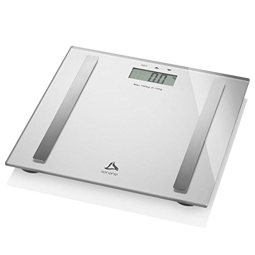 Balança Digital com Visor LCD Digi-Health Pro Alimentação 2 Pilhas AAA Prata, Multilaser, HC029, Branco