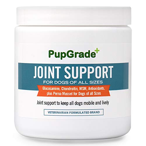 PupGrade Joint Support Supplement for Dogs - Natural Glucosamine Chondroitin & MSM Soft Chews for Hip and Joint Pain Relief - Recommended for Hip Dysplasia, Arthritis & Joint Disease - Made in USA