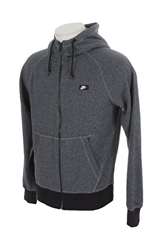 Nike Herren AW77 FT Shoebox Full Zip Hoodie – Cool Grey/Heather/Black, Herren, grau, 3X-Large