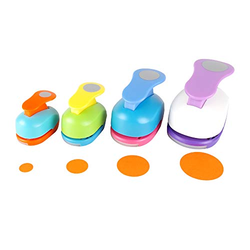 Circle Punch 5/8+1+1.5+2 inch Craft Lever Punch Handmade Paper Punch Candy Color by Random?Candy Circle?