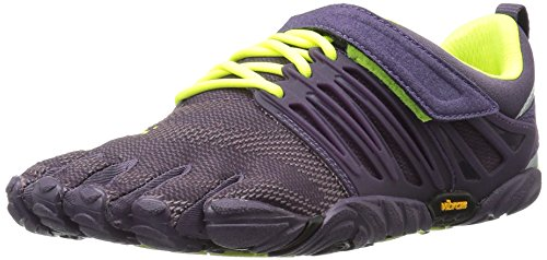 Vibram Women's V-Train Cross-Trainer Shoe, Nightshade/Safety Yellow, 39 EU/7 M US