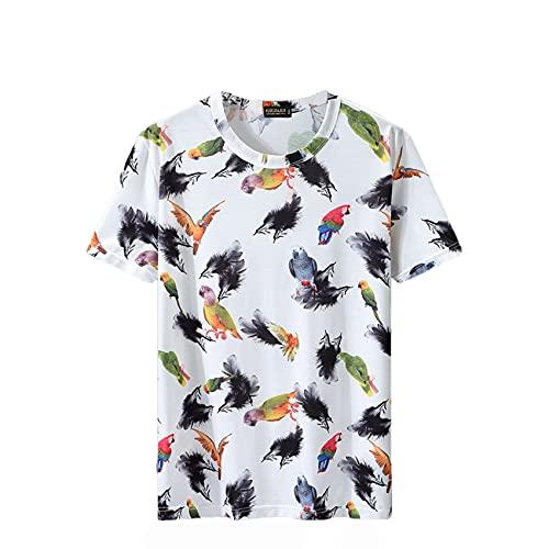 Verano de los Hombres engorde Aumento de Secado rápido de Seda de Hielo Marea Grasa Camiseta Hombres Suelta Extra Grande Grasa Media Manga