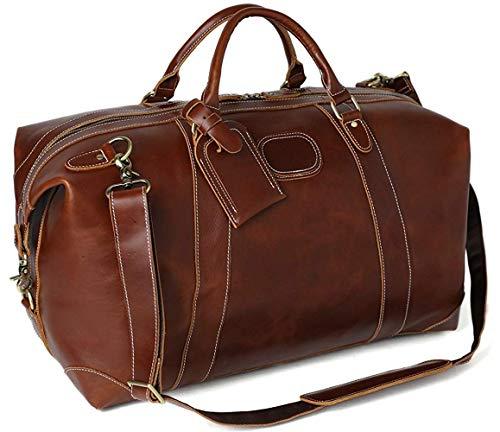 Leather Duffel Bag Weekend Bags for Men and Women Full Grain Premium LeatherBag
