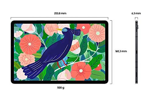 Samsung Galaxy Tab S7, Android Tablet mit Stift, 4G, WiFi, 3 Kameras, großer 8.000 mAh Akku, 11,0 Zoll LTPS Display, 128 GB/6 GB RAM, Tablet in schwarz