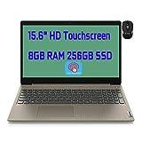 2021 Flagship Lenovo Ideapad 3 15 Laptop Computer 15.6' HD Touchscreen Display Intel Dual-Core Pentium Gold 6405U 8GB DDR4 256GB SSD Dolby Audio Webcam HDMI WiFi Win 10 + iCarp Wireless Mouse