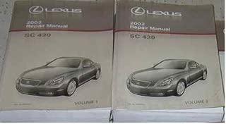 2002 LEXUS SC430 SC 430 Service Shop Repair Manual SET FACTORY OEM 02 BOOKS