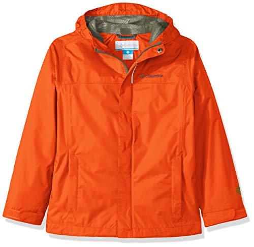 Columbia Garçon Veste Imperméable, WATERTIGHT JACKET, Nylon, Orange (Tangy Arancione), Taille : XL, 1580641