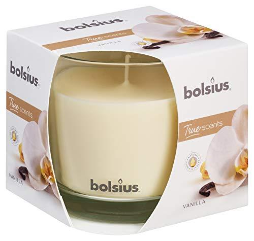 Bolsius Candela Profumata in Giara 95/95 mm Large, Colore Crema, Fragranza Vaniglia, True Scents