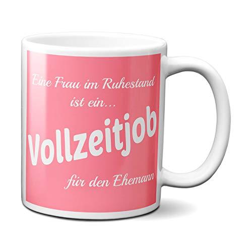 TassenKing® Tasse - Eine Frau im Ruhestand. - Kaffeetasse, Kaffeebecher, Geschenkidee zum Valentinstag, Valentinstagsgeschenk, Geschenk für Sie/Ihn, Geschenk