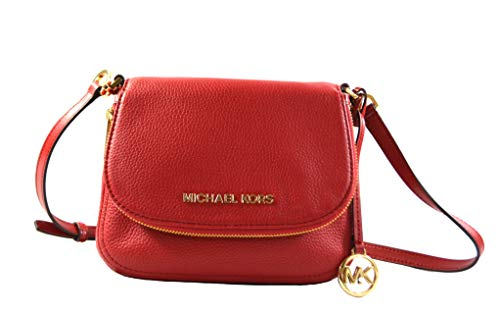 """Made of Leather and MK logo Canvas Wear crossbody, perfect size to carry your daily essentials Outside 1 zip deep pocket in front flap, 1 back full length slip pocket. Inside 1 zip pocket and 1 slip pocket 8""""L x 6.5""""H x 2""""D"""