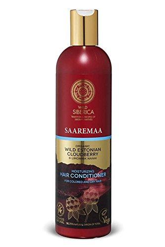 NATURA SIBERICA - Après-shampooing Hydratant - Avec des Plaquebière bio arctique - Pour les cheveux secs ou colorés - Démêlant - Renforçant - Donne de la brillance - Vegan - 400 ml
