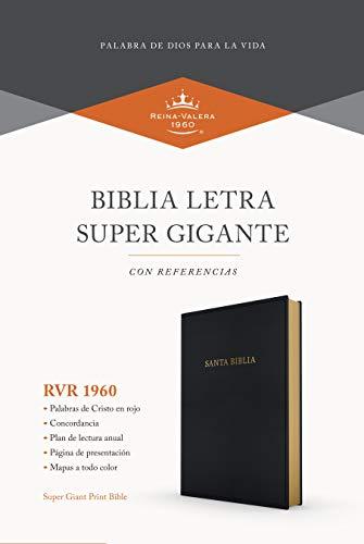 Compare Textbook Prices for RVR 1960 Biblia letra súper gigante, negro imitación piel Spanish Edition  ISBN 9781535973410 by B&H Español Editorial Staff