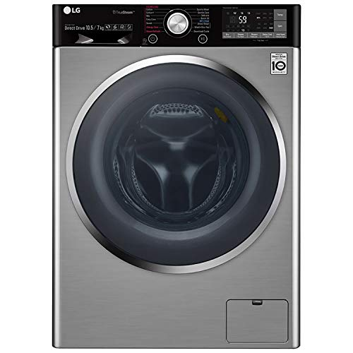 LG 10.5 kg Inverter Wi-Fi Fully-Automatic Front Loading Washer Dryer (F4J9JHP2TD, STS, Inbuilt Heater)