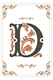 D: Monogram Initial D Notebook for Boys and Girls, Brown Letters Color, Blank Sheets Lined 120 Pages Composition Size (6x9) Wide Ruled Notebook ... Gift For kids, girls, boys, woman, man,