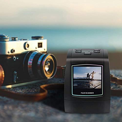 """22MP Escáner de negativos y diapositivas , Convertidor digital con 2,4""""LCD para 35 mm/ Super 8/ 110/ 126 película"""