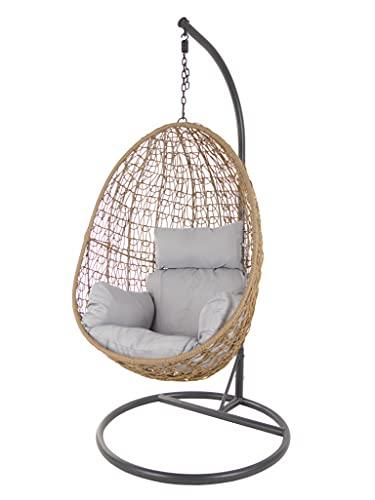 Swing Chair - Sedia sospesa da salotto, con effetto nocciolo