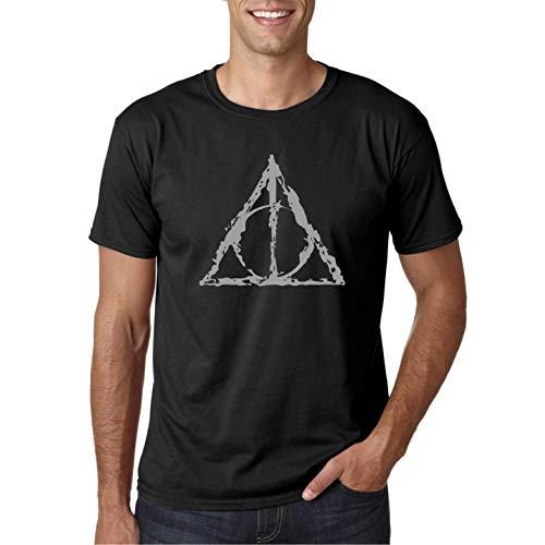 Reliquias de la Muerte - Camiseta Negra Hombre Manga Corta (L)